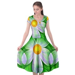 Seamless Repeating Tiling Tileable Cap Sleeve Wrap Front Dress by Alisyart