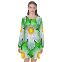 Seamless Repeating Tiling Tileable Long Sleeve Chiffon Shift Dress