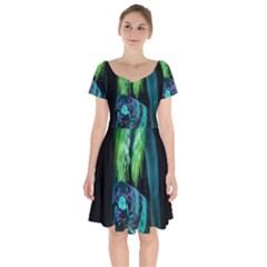 Digital Art Woman Body Part Photo Short Sleeve Bardot Dress by dflcprintsclothing