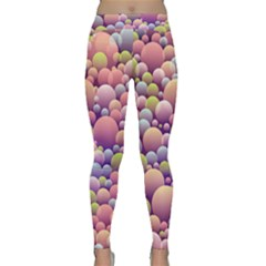 Abstract Background Circle Bubbles Classic Yoga Leggings