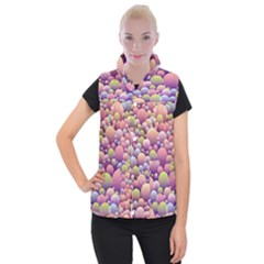Abstract Background Circle Bubbles Women s Button Up Vest by AnjaniArt