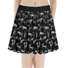 Petroglyph Nordic Beige And Black Background Petroglyph Nordic Beige And Black Background Pleated Mini Skirt by snek