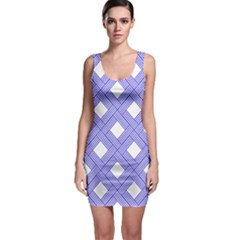 Textile Cross Seamless Pattern Bodycon Dress