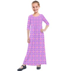Wreath Differences Kids  Quarter Sleeve Maxi Dress