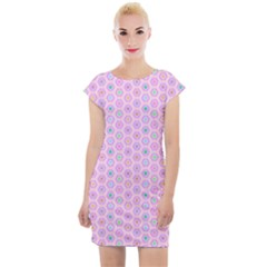A Hexagonal Pattern Unidirectional Cap Sleeve Bodycon Dress by Pakrebo