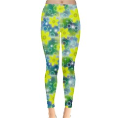 Narcissus Yellow Flowers Winter Leggings