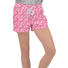 Phlox Spring April May Pink Women s Velour Lounge Shorts by Pakrebo