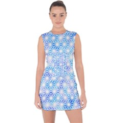 Traditional Patterns Hemp Pattern Lace Up Front Bodycon Dress