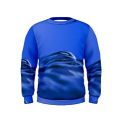 Wave Macro Water Surface Kids  Sweatshirt