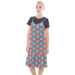 Seamless Patter Peacock Feathers Camis Fishtail Dress by Pakrebo
