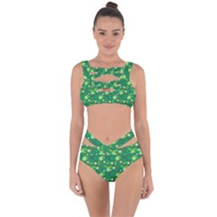 Leaf Clover Star Glitter Seamless Bandaged Up Bikini Set  by Pakrebo