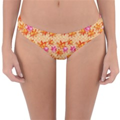 Maple Leaf Autumnal Leaves Autumn Reversible Hipster Bikini Bottoms by Pakrebo