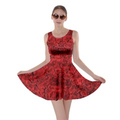 Rose Roses Flowers Red Valentine Skater Dress