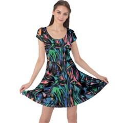 Tree Forest Abstract Forrest Cap Sleeve Dress