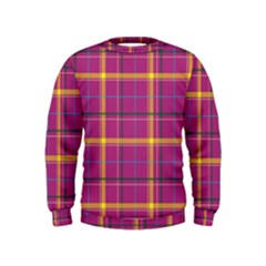 Plaid Tartan Background Wallpaper Kids  Sweatshirt