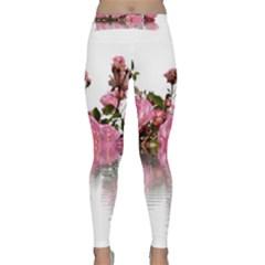 Roses Flowers Nature Flower Classic Yoga Leggings