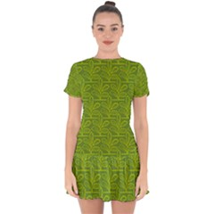 Oak Tree Nature Ongoing Pattern Drop Hem Mini Chiffon Dress by Mariart