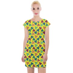 80s 90s Pattern 14 Cap Sleeve Bodycon Dress