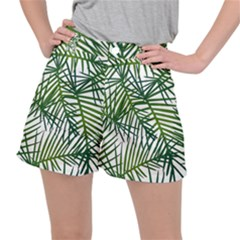 Fancy Tropical Pattern Stretch Ripstop Shorts by tarastyle