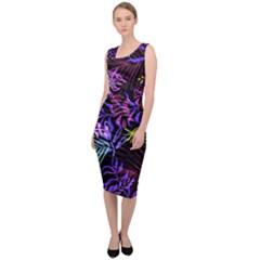 Fancy Tropical Pattern Sleeveless Pencil Dress by tarastyle