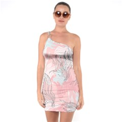 Cute Abstract Pattern  One Soulder Bodycon Dress by tarastyle