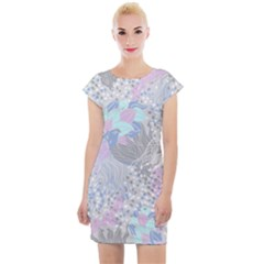 Cute Abstract Pattern  Cap Sleeve Bodycon Dress