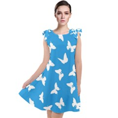 Butterfly Pattern Tie Up Tunic Dress by tarastyle