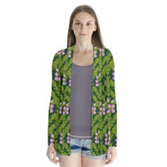 Pattern Nature Texture Heather Drape Collar Cardigan by Alisyart