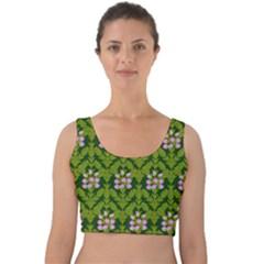 Pattern Nature Texture Heather Velvet Crop Top