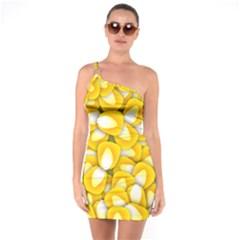 Pattern Background Corn Kernels One Soulder Bodycon Dress by AnjaniArt
