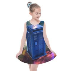 The Police Box Tardis Time Travel Device Used Doctor Who Kids  Summer Dress by Sudhe