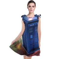 The Police Box Tardis Time Travel Device Used Doctor Who Tie Up Tunic Dress by Sudhe