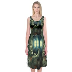 Time Machine Doctor Who Midi Sleeveless Dress