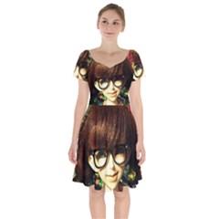 Olivia In The Fields Short Sleeve Bardot Dress by snowwhitegirl