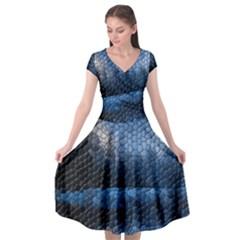 Mountain Glass Cap Sleeve Wrap Front Dress by snowwhitegirl