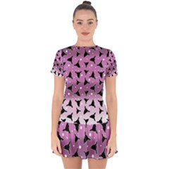Deer Dots Ombre Drop Hem Mini Chiffon Dress by snowwhitegirl