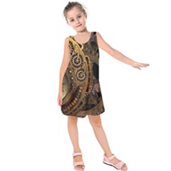 Steampunk Clock Kids  Sleeveless Dress