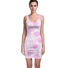 Peony Asia Spring Flowers Natural Bodycon Dress