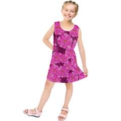 Cherry Blossoms Floral Design Kids  Tunic Dress