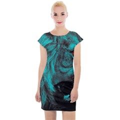 Angry Male Lion Predator Carnivore Cap Sleeve Bodycon Dress by Sudhe