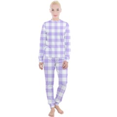 Lavender Gingham Women s Lounge Set by retrotoomoderndesigns