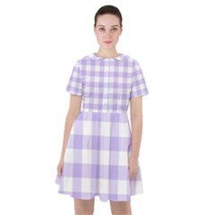 Lavender Gingham Sailor Dress by retrotoomoderndesigns