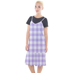 Lavender Gingham Camis Fishtail Dress by retrotoomoderndesigns