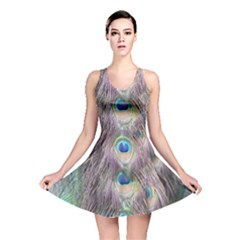 Peacock Bird Pattern Reversible Skater Dress by Pakrebo