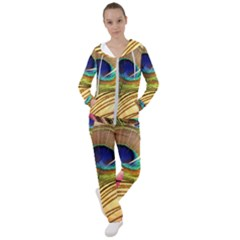 Peacock Feather Colorful Peacock Women s Tracksuit by Pakrebo