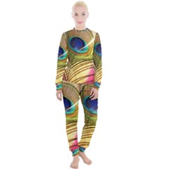 Peacock Feather Colorful Peacock Women s Lounge Set by Pakrebo