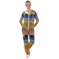 Peacock Feather Bird Colorful Women s Tracksuit by Pakrebo