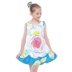 Favorite Rose Watercolor   Kids  Summer Dress by okhismakingart