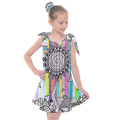 Striped Flower Kids  Tie Up Tunic Dress by okhismakingart