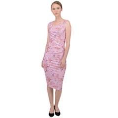 Fancy Floral Pattern Sleeveless Pencil Dress by tarastyle